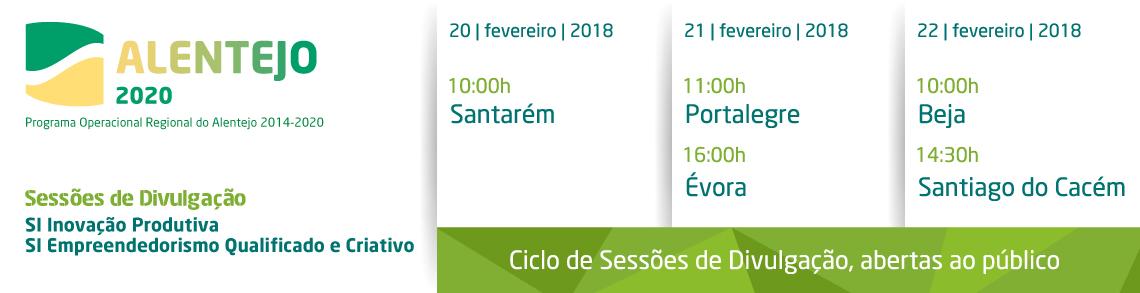 Ciclo de Sessões de Divulgação, abertas ao público